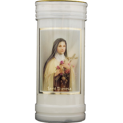 Picture of Saint Thérèse pillar candle