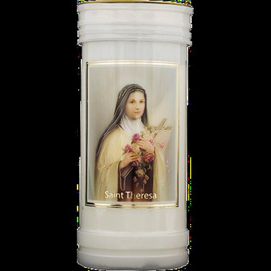 Picture of Saint Thérèse pillar candle