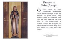 Picture of Prayer card to Saint Joseph