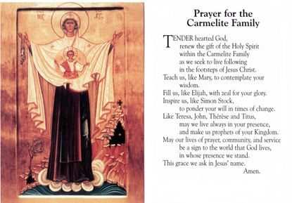 Picture of Prayer card for the Carmelite Family