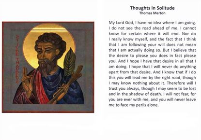 Picture of Thoughts of Solitude prayer card