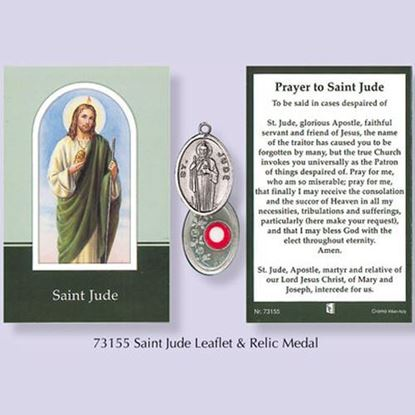 Picture of Saint Jude relic medal and prayer card