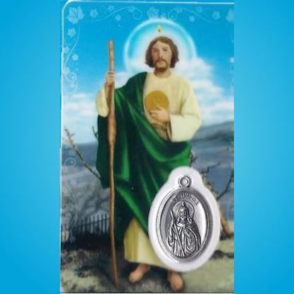 Picture of Saint Jude prayer card & medal