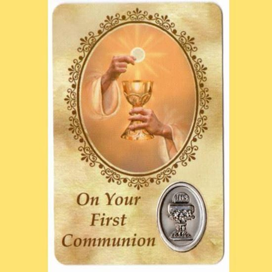 Picture of On Your First Communion prayer card