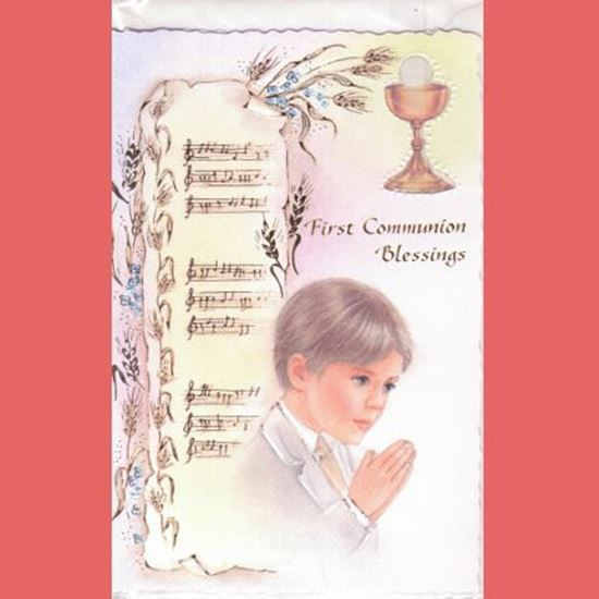 Picture of First Communion Blessings card