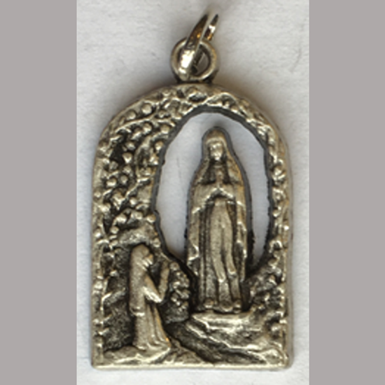 Picture of Medal of Our Lady of Lourdes & Saint Bernadette at Grotto