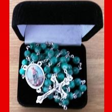 Picture of Saint Jude rosary - turquoise marble effect