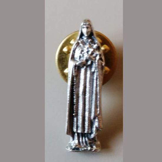 Picture of Saint Thérèse of Lisieux pin badge (silver colour)