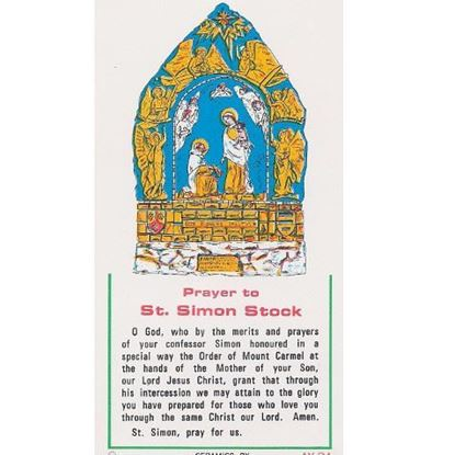 Picture of Prayer card to Saint Simon Stock