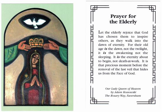 Picture of Prayer card for the Elderly