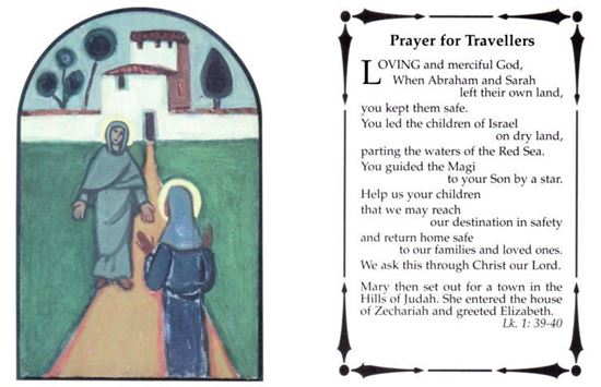 Picture of Travellers prayer card
