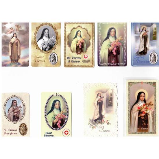 Picture of Saint Thérèse of Lisieux prayer cards