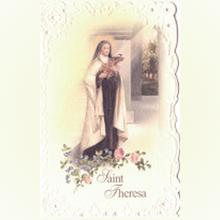 Picture of Saint Thérèse of Lisieux prayer card