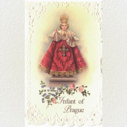 Picture of Infant of Prague prayer cards