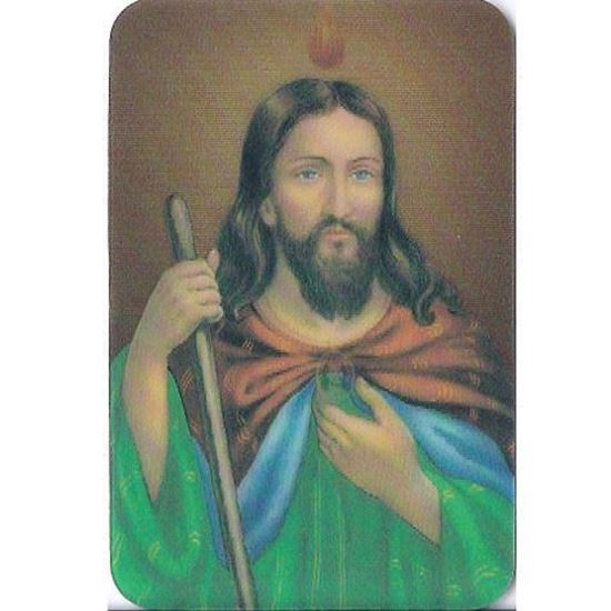 Picture of Saint Jude 3D prayer card