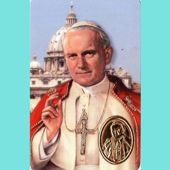 Picture of Pope John Paul II prayer card