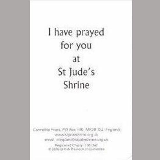 "Picture of Shrine ""I have prayed for you"" prayer card"