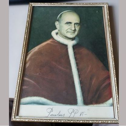 Picture of Pope Paul VI framed picture
