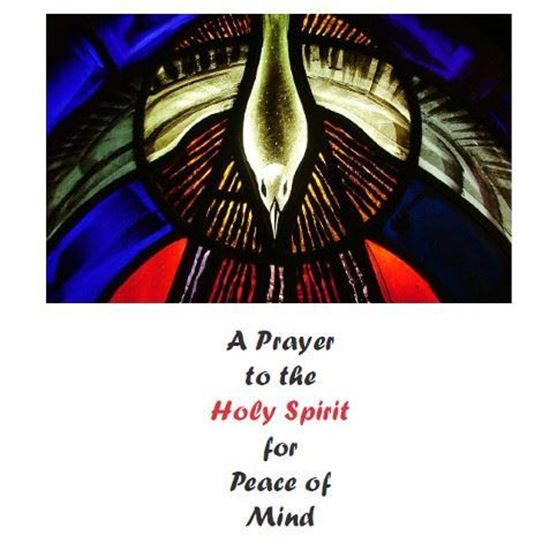 Picture of Prayer to the Holy Spirit for Peace of MInd