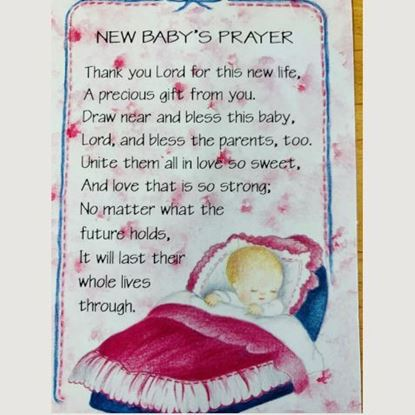 Picture of New baby's prayer