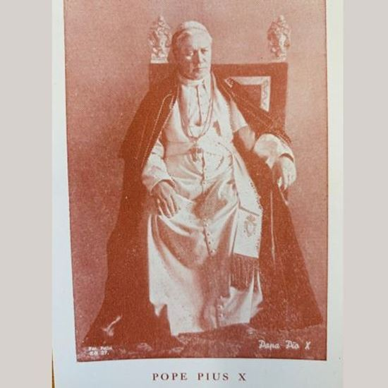 Picture of Pope Puis X prayer card