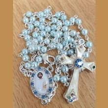 Picture of Saint Jude Marcasite rosary - Blue