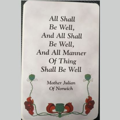 Picture of All shall be well prayer card