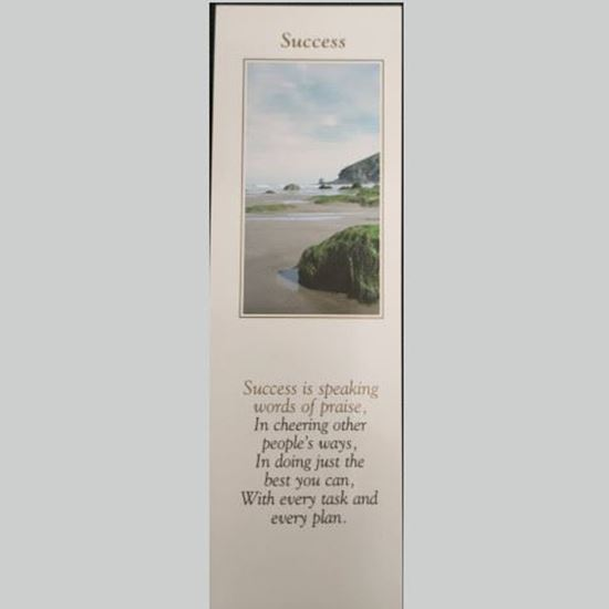 """Picture of """"Success"""" prayer card and bookmark"""