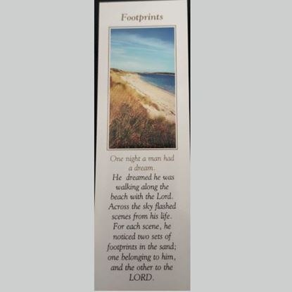 Picture of 'Footprints' prayer card