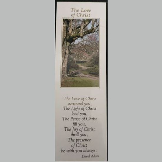 """Picture of """"The Love of Christ"""" prayer card and bookmark"""