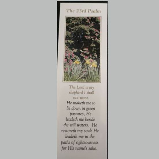 """Picture of """"23rd Psalm"""" prayer card and bookmark"""