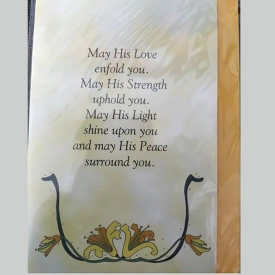 Picture of 'May his love enfold you' prayer card