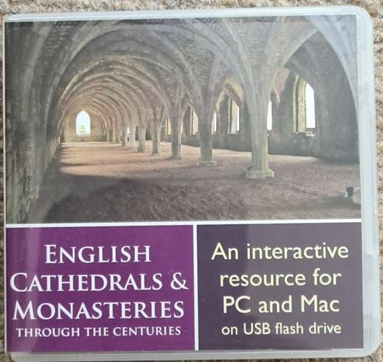 Picture of English Cathedrals & Monasteries through the centuries - interactive USB Flash drive