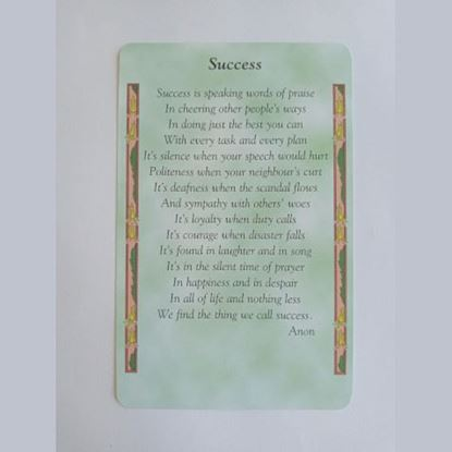 """Picture of """"Success"""" Prayer card"""