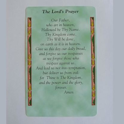 """Picture of """"The Lord's Prayer"""" prayer card"""