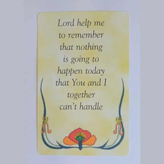 Picture of 'Lord help me' prayer card