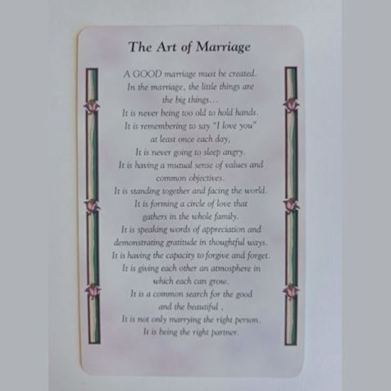 """Picture of """"Art of Marriage"""" prayer card"""