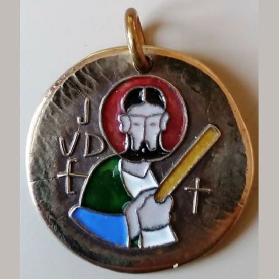 Picture of Saint Jude Bronze Medal Coloured Picture