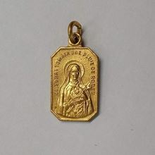 Picture of Medal of Saint Thérèse of Lisieux - Gold Finish