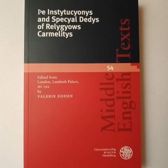 Picture of Instituctyonys and specyal Dedys of Relygyows Carmelitys