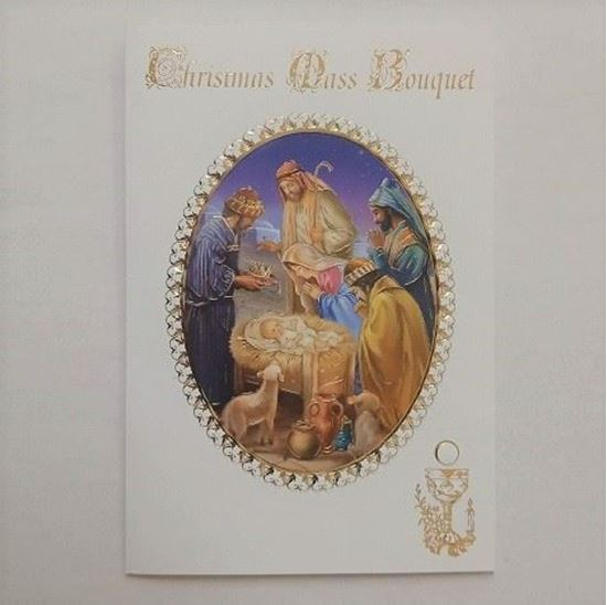 Picture of Christmas Mass bouquet card A