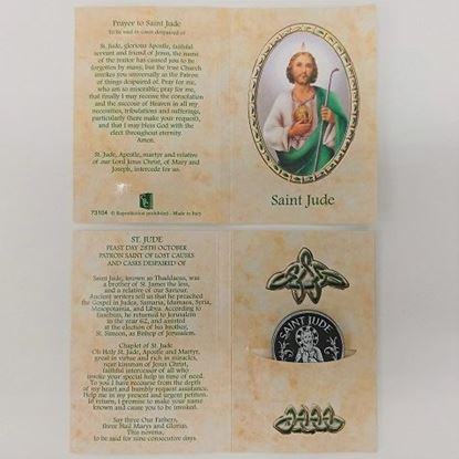 Picture of Saint Jude Prayer Card with Token